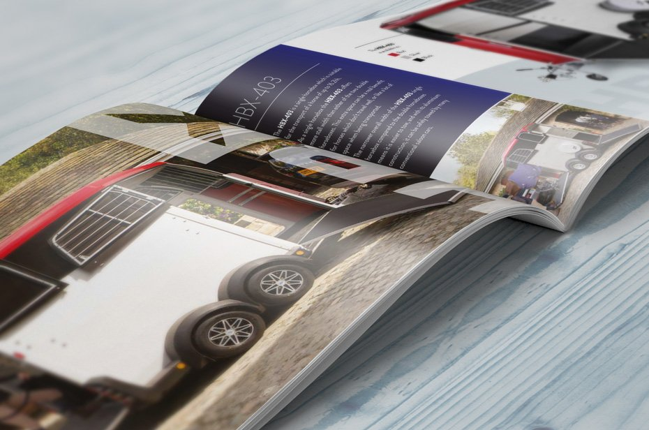 HBX hestetrailer brochure